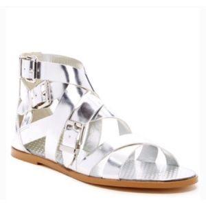 BCBGeneration Sylvia Silver Sandal Size 6.5